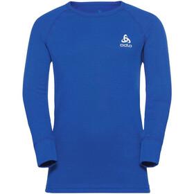 Odlo Active Warm Plus Top Crew Neck L/S Børn, blå